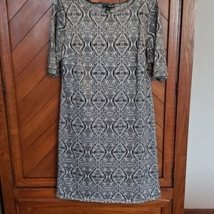Black and white size 14 dress.